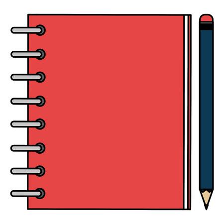 notebook agend with pencil vector illustration design Illustration