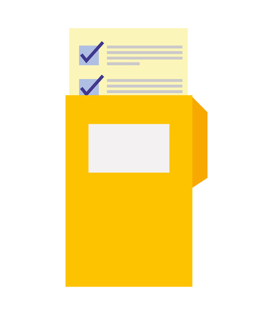 folder with paper document isolated icon vector illustration design