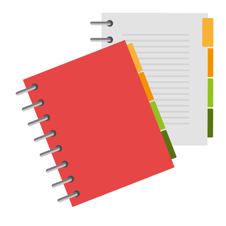 notebook agend isolated icon vector illustration design Imagens - 112067283