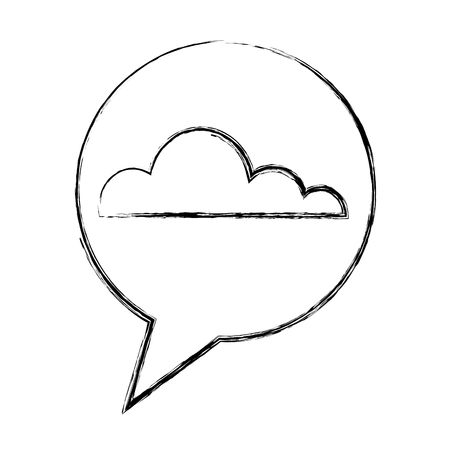 cloud weather speech bubble vector illustration hand drawing