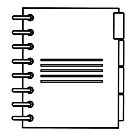 notebook agend isolated icon vector illustration design Banque d'images - 112067386