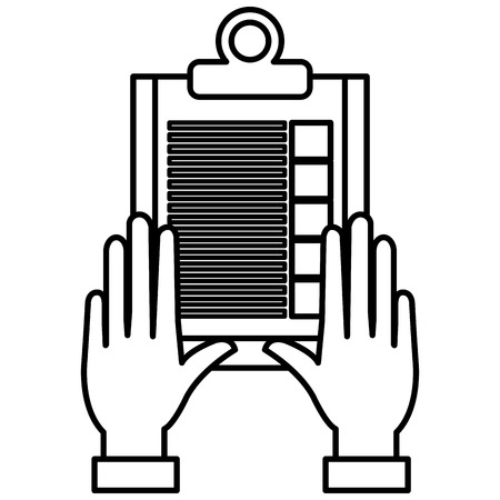 hand with checklist clipboard vector illustration design Banque d'images - 112067400