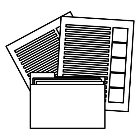 file folder with documents vector illustration design Ilustração