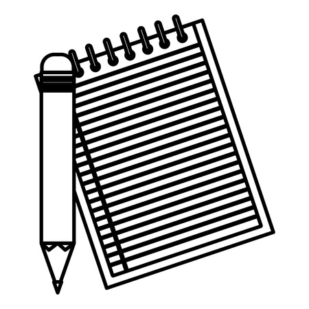 office notebook with pencil vector illustration design Illusztráció