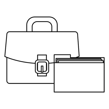 portfolio with file folder vector illustration design Imagens - 112067452