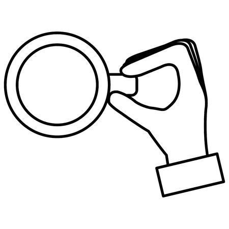 mano con disegno di illustrazione vettoriale tazza di caffè