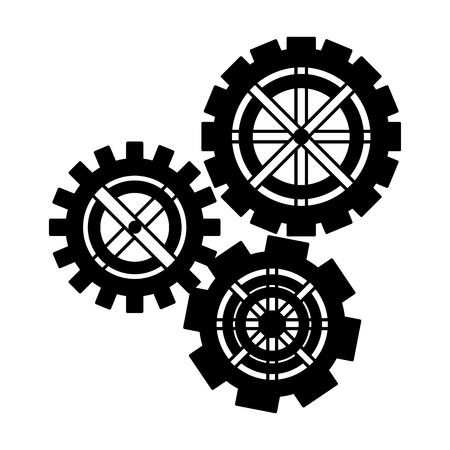set gears machine isolated icon vector illustration design Ilustrace