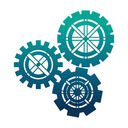 set ingranaggi macchina icona isolato illustrazione vettoriale design