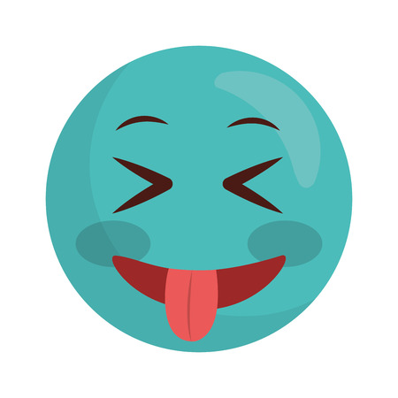 emoji crazy kawaii character icon vector illustration design