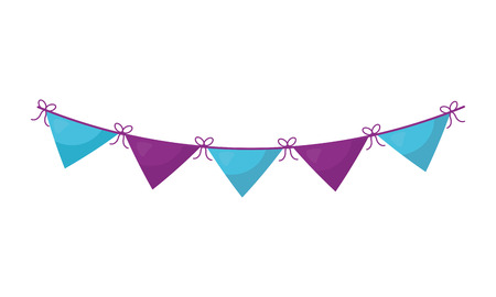 garlands hanging decorative icon vector illustration design Reklamní fotografie - 106215461