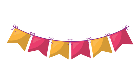 garlands hanging decorative icon vector illustration design Vettoriali