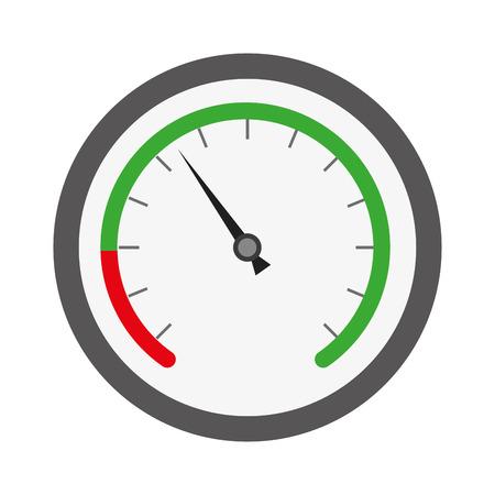 Indicatore di velocità isolato icona illustrazione vettoriale design Vettoriali