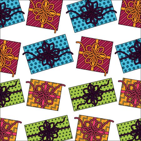 gift boxes present pattern vector illustration design  イラスト・ベクター素材