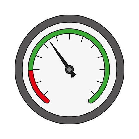 speed gauge isolated icon vector illustration design