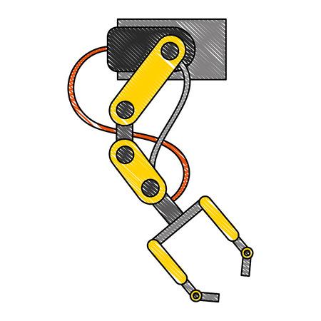 robotic arm futuristic automated work tool vector illustration Ilustração
