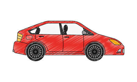car vehicle sedan automobile transport vector illustration