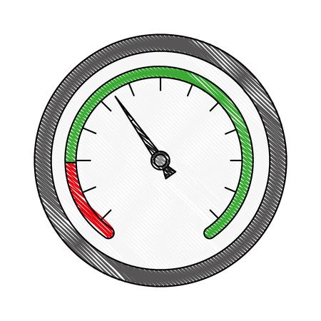 snelheidsmeter apparaat automotive vervoer maatregel vectorillustratie Vector Illustratie