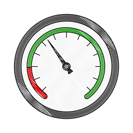 speedometer device automotive transport measure vector illustration