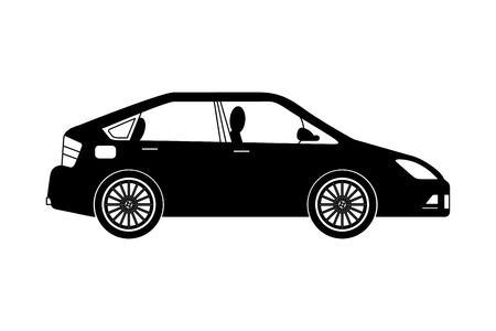 Auto berlina icona isolato illustrazione vettoriale design