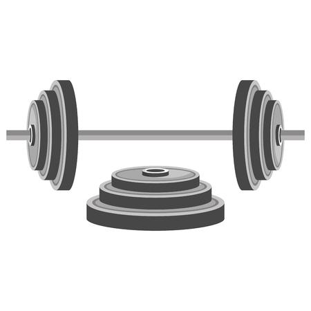 dumbell gym accessory icon vector illustration design Illustration