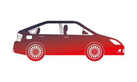 berline de voiture icône isolé vector illustration design Vecteurs