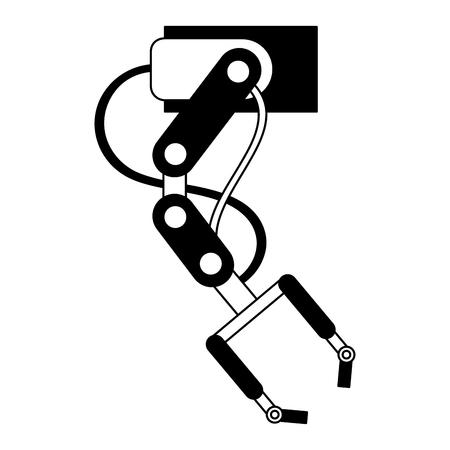 robotic hand machine icon vector illustration design