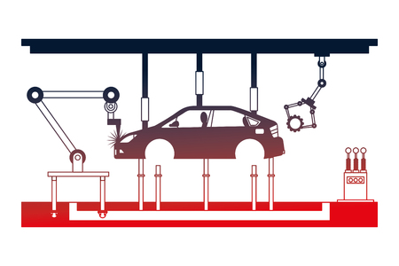 car assembling machine icon vector illustration design Banque d'images - 112070762