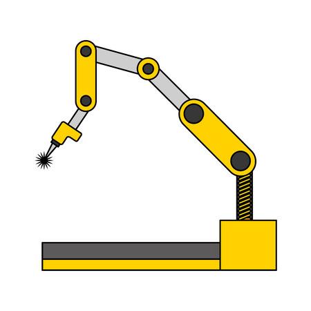 robotic arm mechanical industrial manipulator technology vector illustration