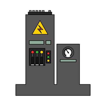 factory monitoring control machine vehicle vector illustration Reklamní fotografie - 112070805