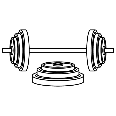 dumbell gym accessory icon vector illustration design Çizim
