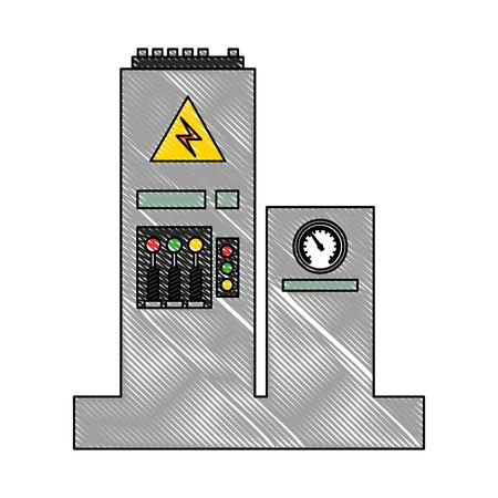 factory monitoring control machine vehicle vector illustration Reklamní fotografie - 112070832