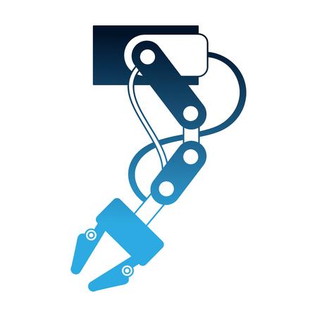 Brazo robótico sectores de la industria automotriz y electrónica ilustración vectorial Ilustración de vector
