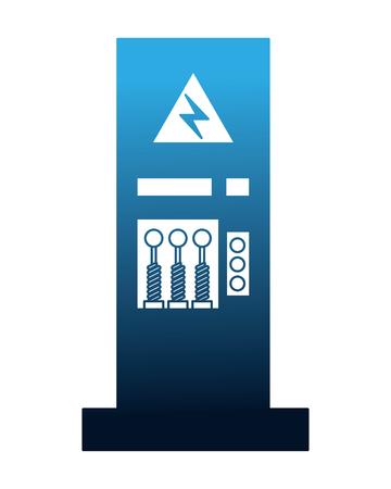 factory monitoring control machine vehicle vector illustration Reklamní fotografie - 112070849