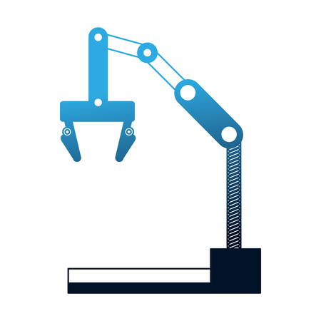 robotic arm automotive and electronic industry sectors vector illustration