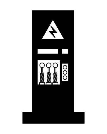 factory monitoring control machine vehicle vector illustration