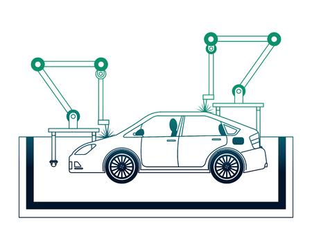 car assembling machine icon Иллюстрация