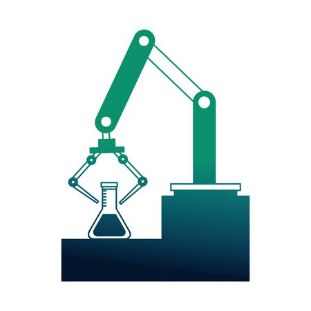 robotic hand machine with tube test vector illustration design Ilustração