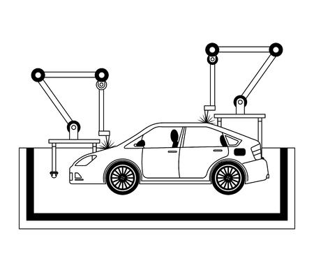 car assembling machine icon Banque d'images - 112071106