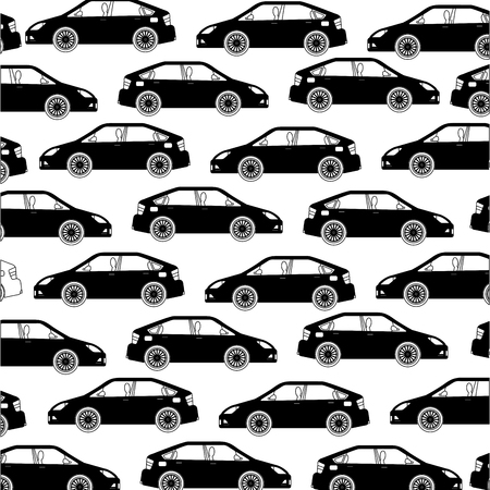 car sedan icon pattern vector illustration design