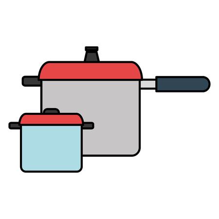 kitchen pots utensils icons vector illustration design