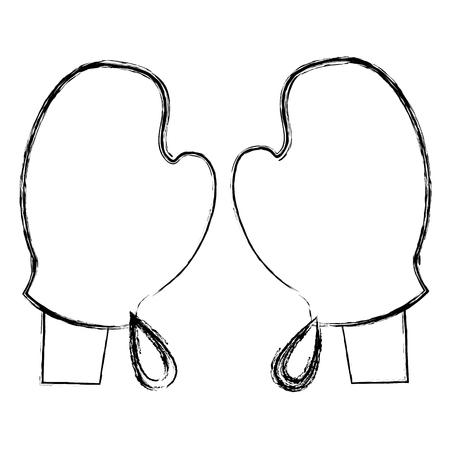 hands with gloves kitchen vector illustration design