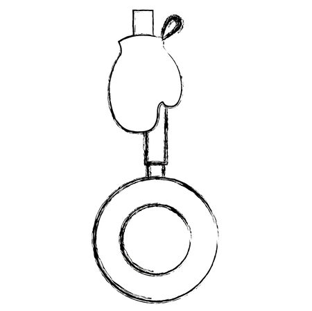glove kitchen with pan vector illustration design Archivio Fotografico - 106298996