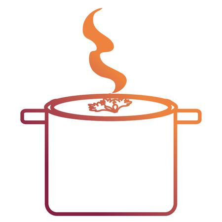 kitchen pot cooking soup vector illustration design