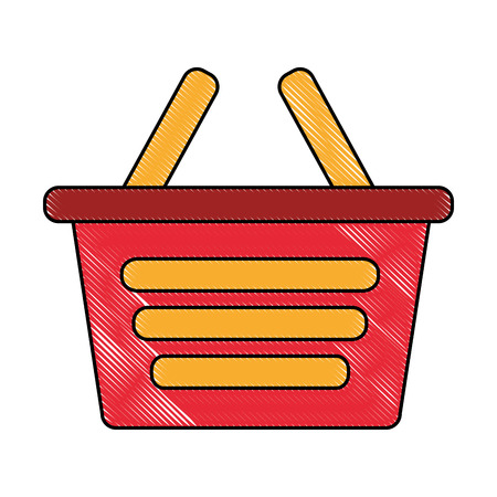 shopping basket ecommerce market online vector illustration