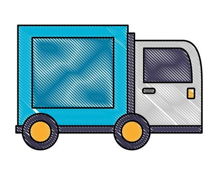 truck delivery cargo shipping icon vector illustration