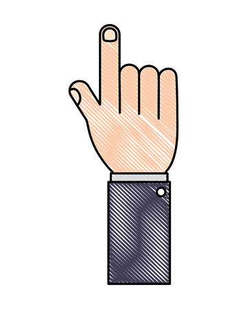 index gesture pointing hand indicate vector illustration Çizim
