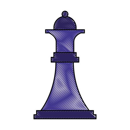 figure chess queen piece icon vector illustration Illustration