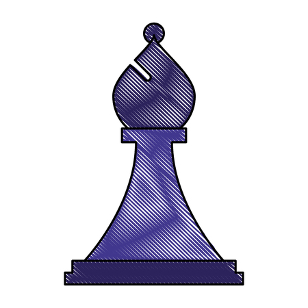 figure chess bishop piece icon vector illustration Ilustrace