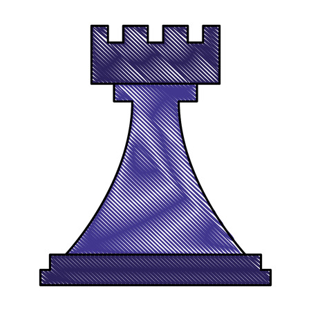 figure chess rook piece icon vector illustration
