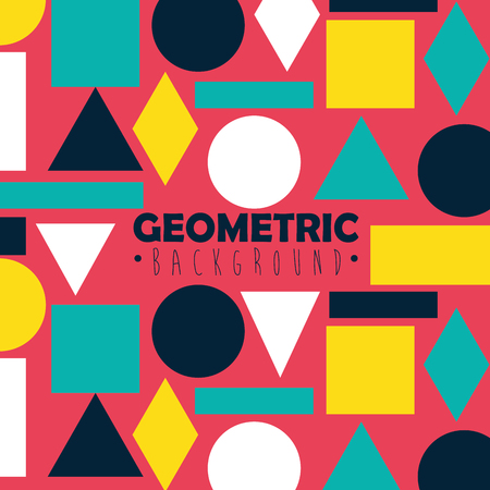 figures geometrics and colors background vector illustration design Ilustração